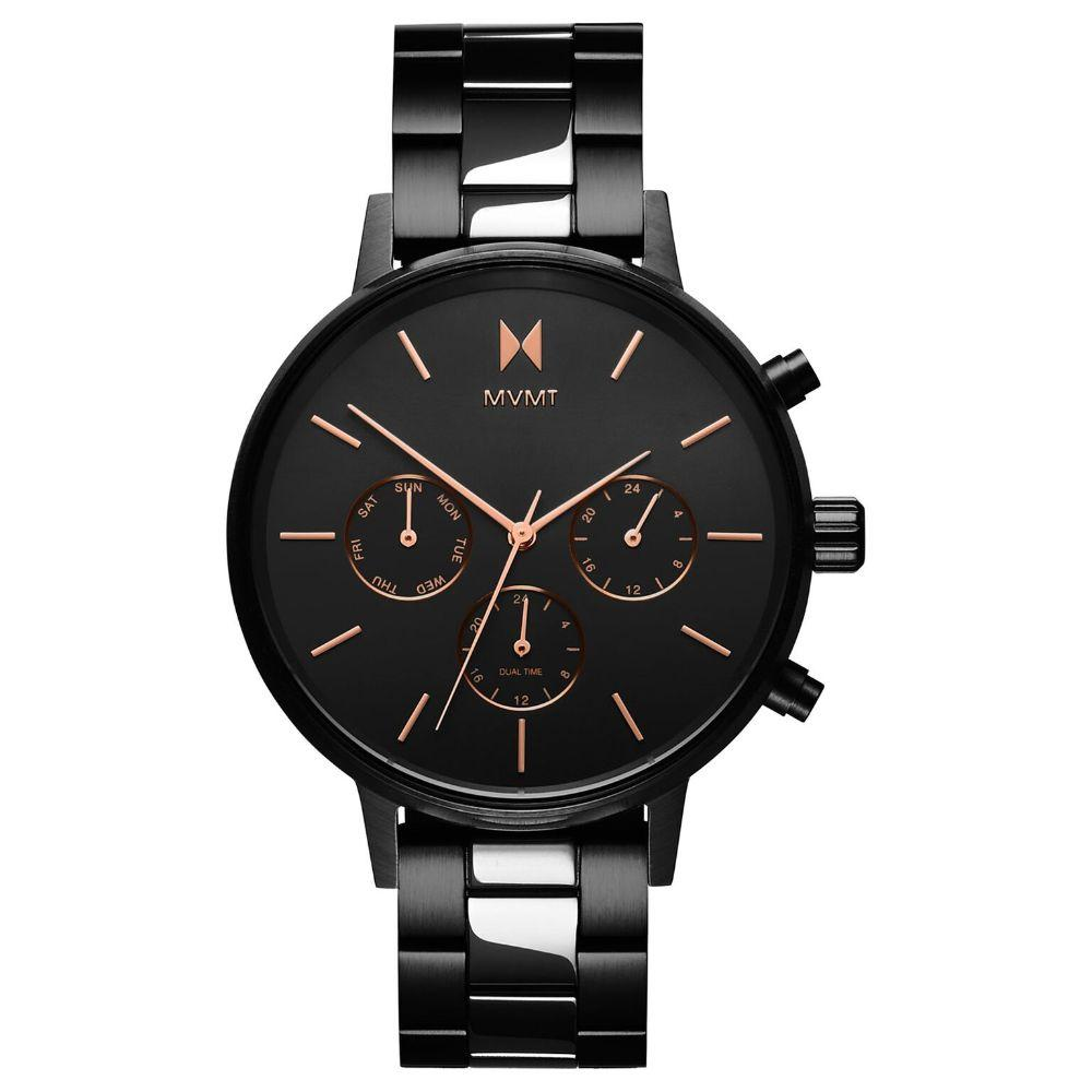 MVMT Nova Black Steel Ladies Multi-function Watch - DFC01BL
