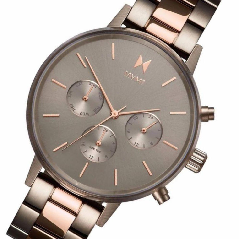 MVMT Nova Rose Gold Steel and Titanium Ladies Watch - DFC01TIRG