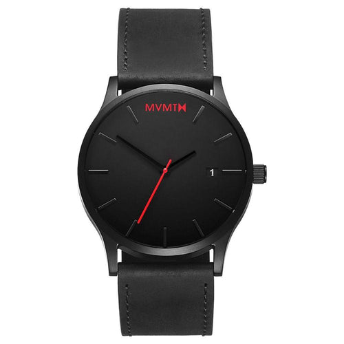 MVMT Classic Black Leather Men's Watch -DL2135L551