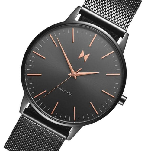 MVMT Boulevard Gunmetal Mesh Ladies Slim Watch - DMB01GUM
