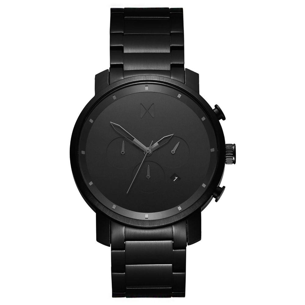 MVMT Chrono Black Steel Men's Watch - DMC01BB