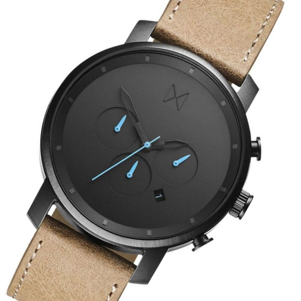 MVMT Chrono Sandstone Leather Men's Watch - DMC01GML