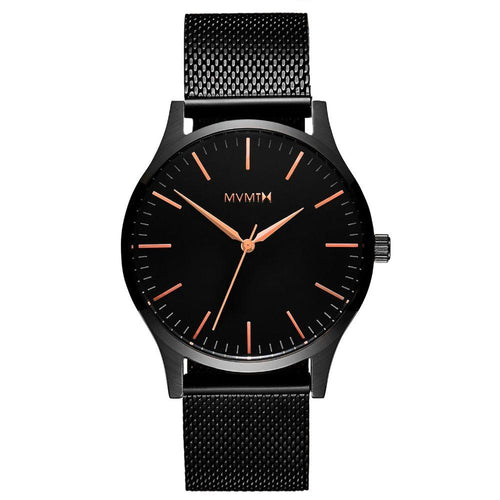 MVMT 40 Series Black Mesh Men's Slim Watch - DMT01BBRG