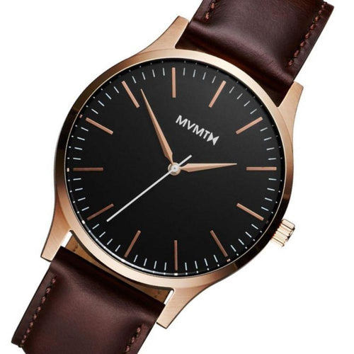 MVMT 40 Series Brown Leather Men's Slim Watch - DMT01BLBR