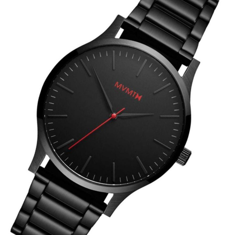 MVMT 40 Series Black Steel Men's Slim Watch - DMT01BL