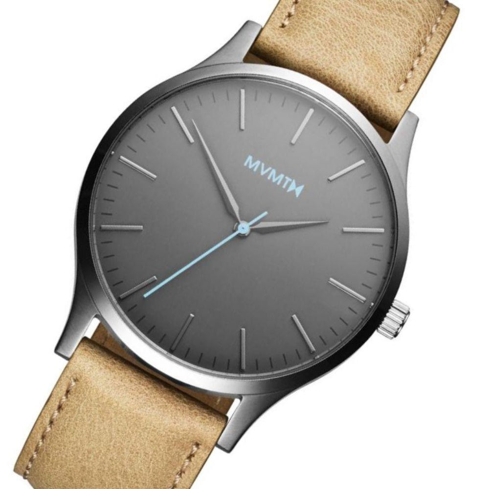 MVMT 40 Series Sandstone Leather Men's Slim Watch -DMT01GML