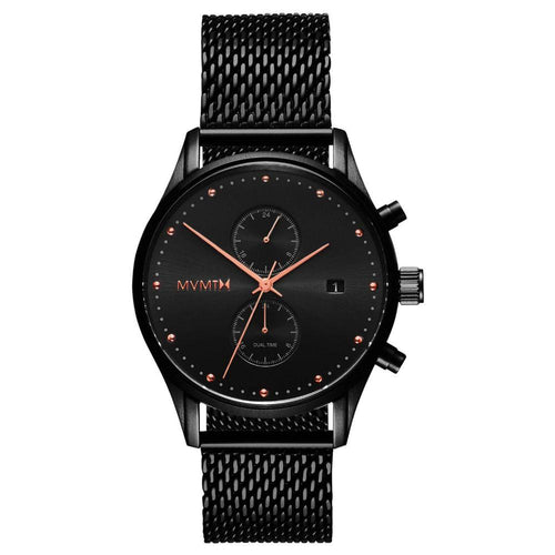 MVMT Voyager Black Mesh Men's Multi-function Watch - DMV01BBRG