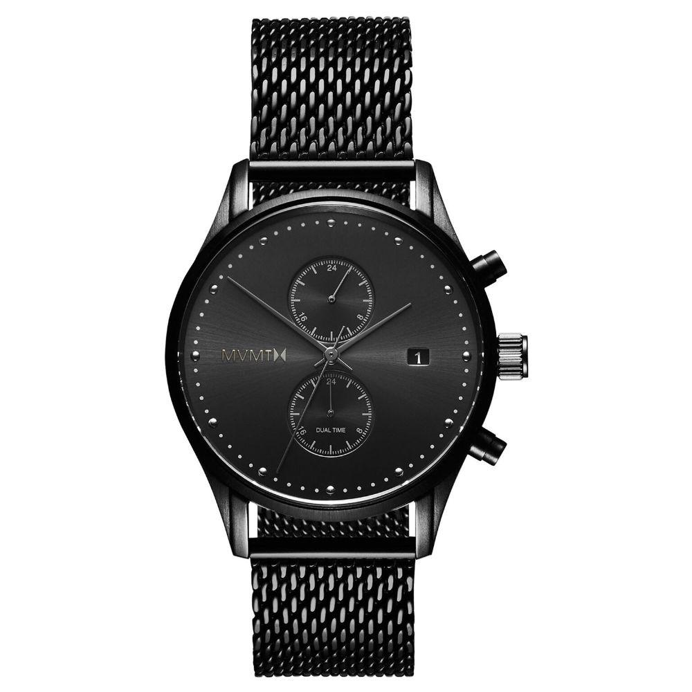 MVMT Voyager Black Steel Men's Multi-function Watch -DMV01BL2