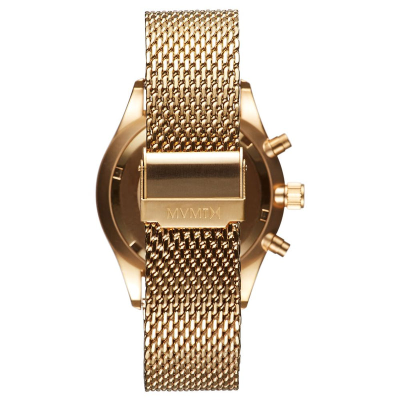 MVMT Voyager Gold Mesh Men's Multi-function Watch - DMV01G2