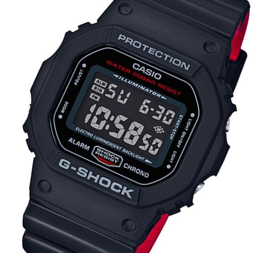 Casio G-SHOCK Black x Red  Heritage Series Men's Watch - DW5600HR-1A