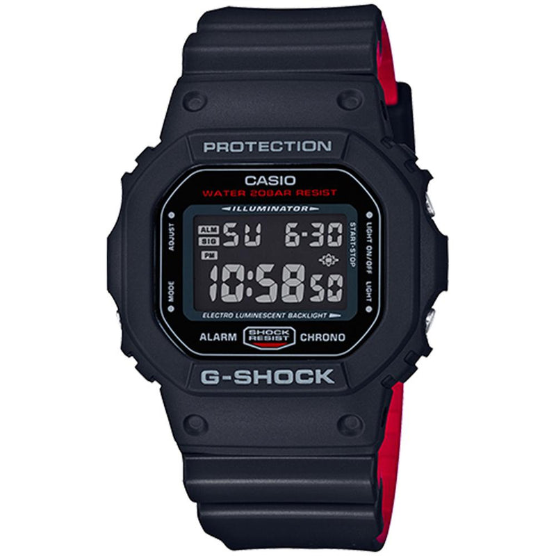 G-SHOCK Black x Red  Heritage Color Series Men's Watch - DW5600HR-1A