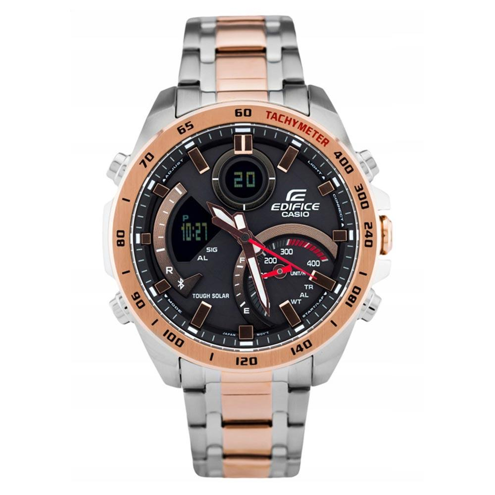 Casio Edifice Two-Tone Digital Chrono Series Men's Sport Watch - ECB900DC-1A