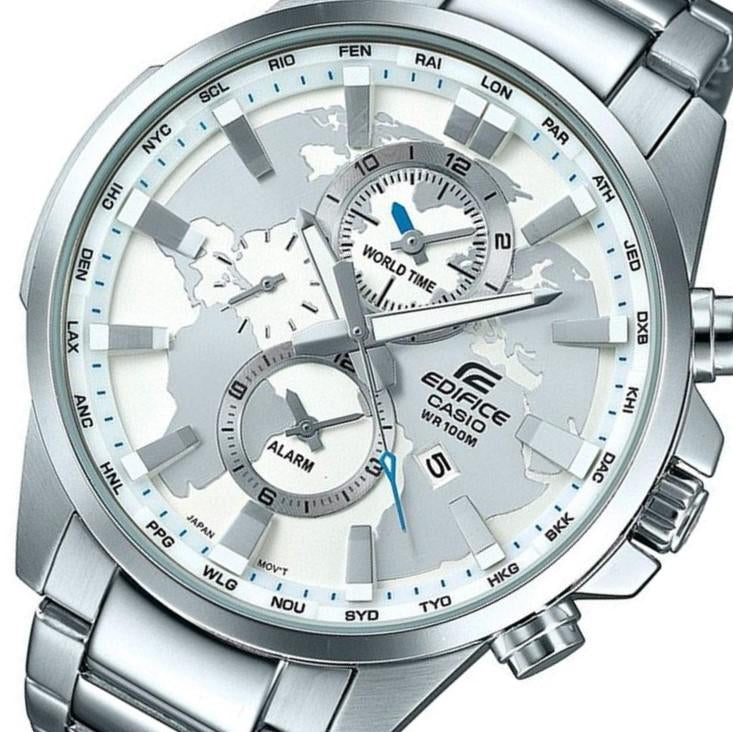 Casio Edifice Men's Stainless Steel World Time Chrono Watch - EFR303D-7A