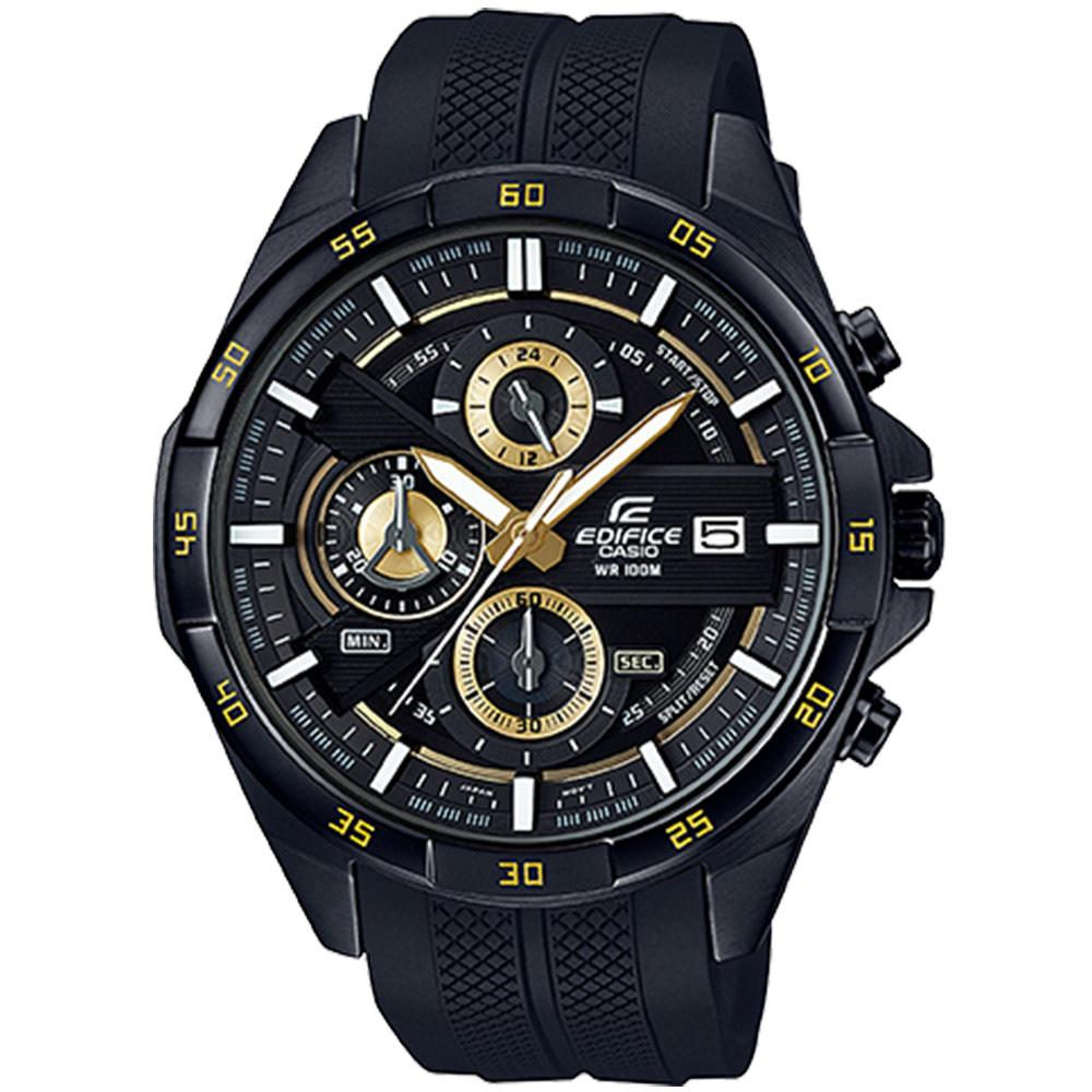 Edifice Chronograph Black Silicone Men's Watch - EFR556PB-1A