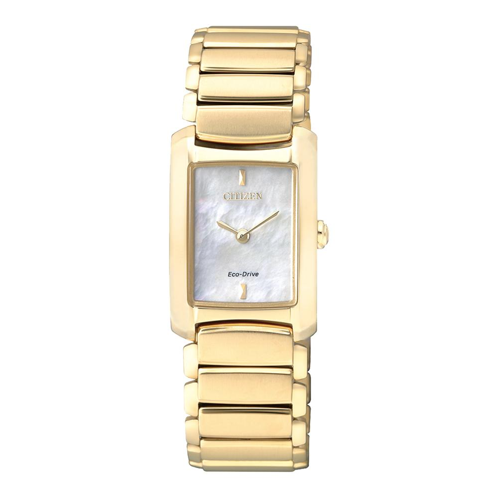 Citizen Gold Steel Bracelet Ladies Eco-Drive Watch - EG2973-55D