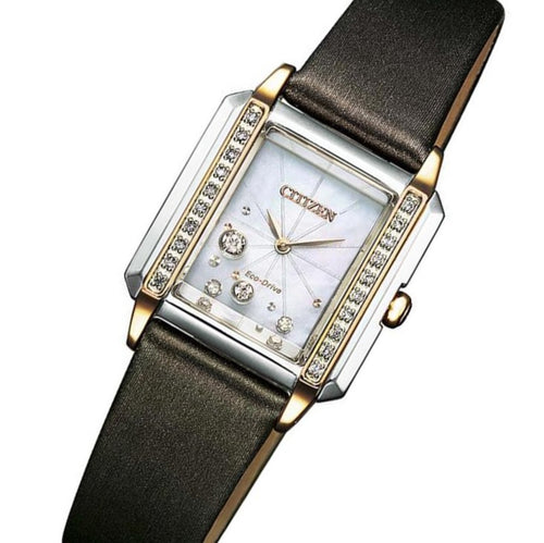 Citizen Diamond Leather Eco-Drive Women's Watch - EG7068-16D