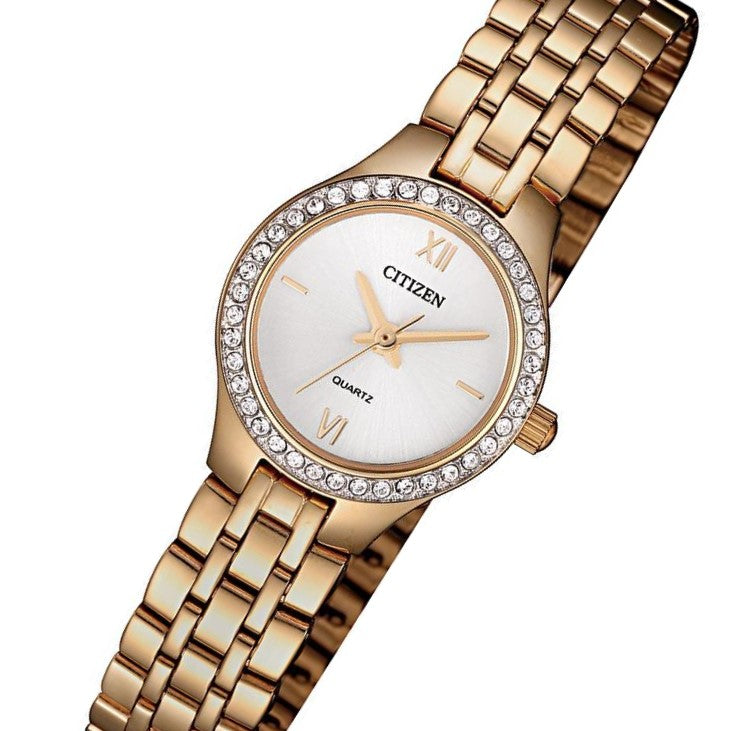 Citizen Ladies Rose Gold Stainless Steel Quartz Watch - EJ6143-59A