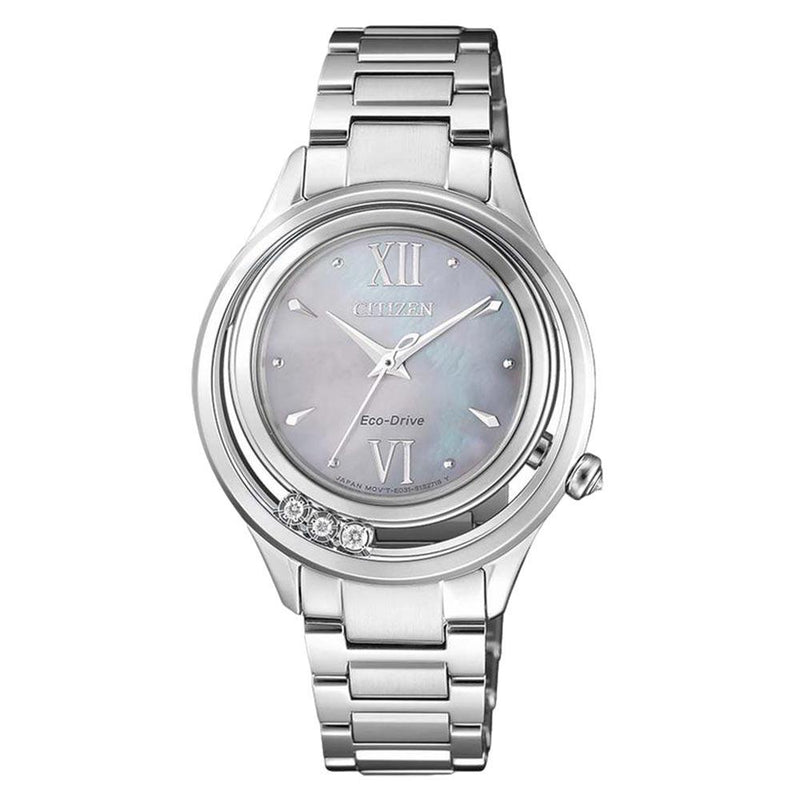 Citizen Diamond Stainless Steel Eco-Drive Women's Watch - EM0510-88D
