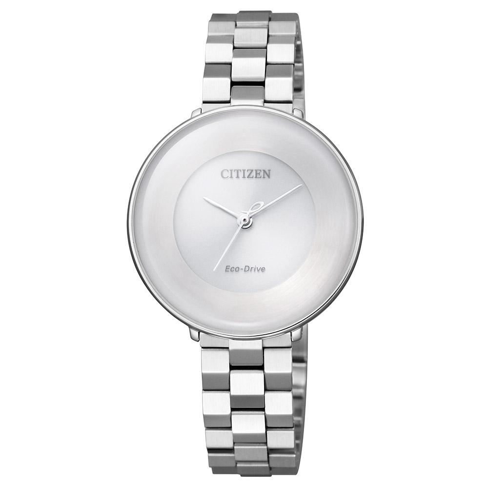 Citizen Ladies Citizen L Diamond Eco-Drive Stainless Steel Watch - EM0600-87A
