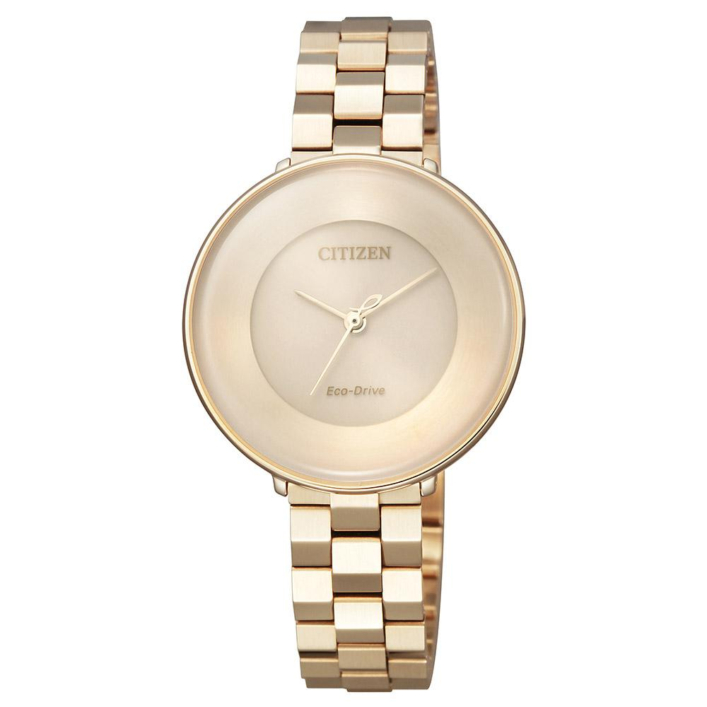 Citizen Ladies Citizen L Diamond Eco-Drive Stainless Steel Watch - EM0603-89X