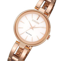 Citizen Ladies Dress Eco-Drive Rose Gold Stainless Steel Watch - EM0639-81A