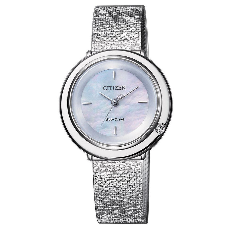 Citizen Ladies Citizen L Diamond Eco-Drive Stainless Steel Watch - EM0640-82D