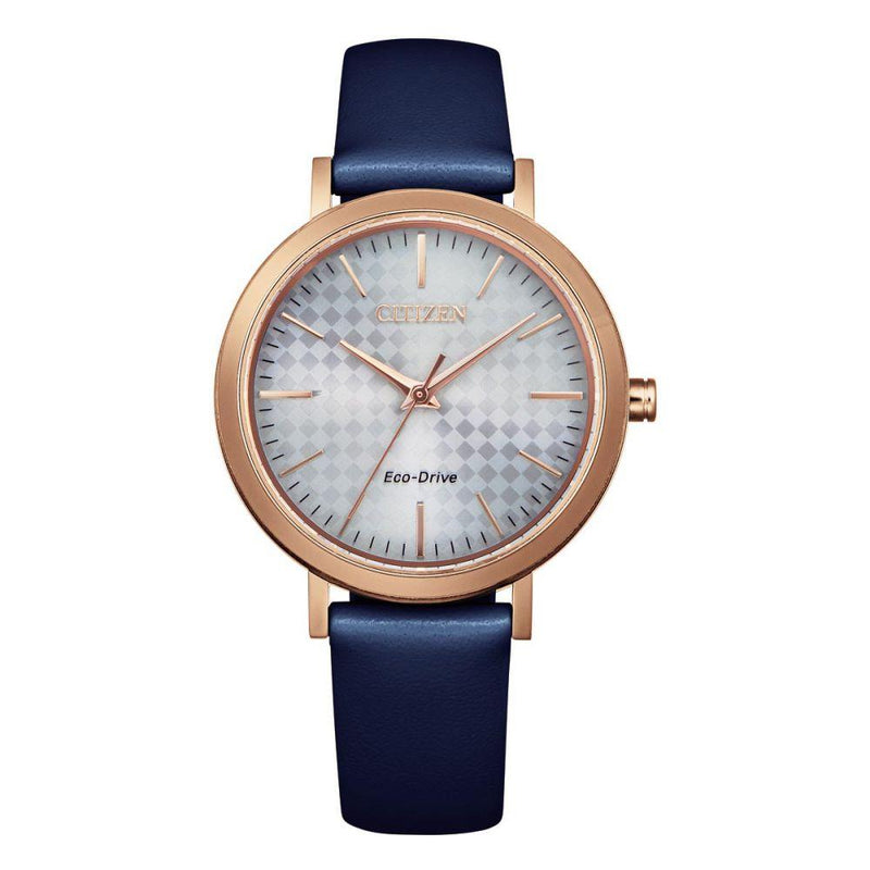 Citizen Blue Leather Ladies Solar Watch - EM0763-07A