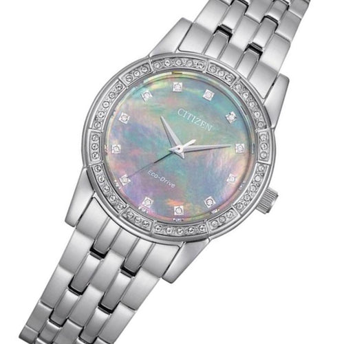 Citizen Stainless Steel with Swarovski Crystals Eco-Drive Women's Watch - EM0770-52Y