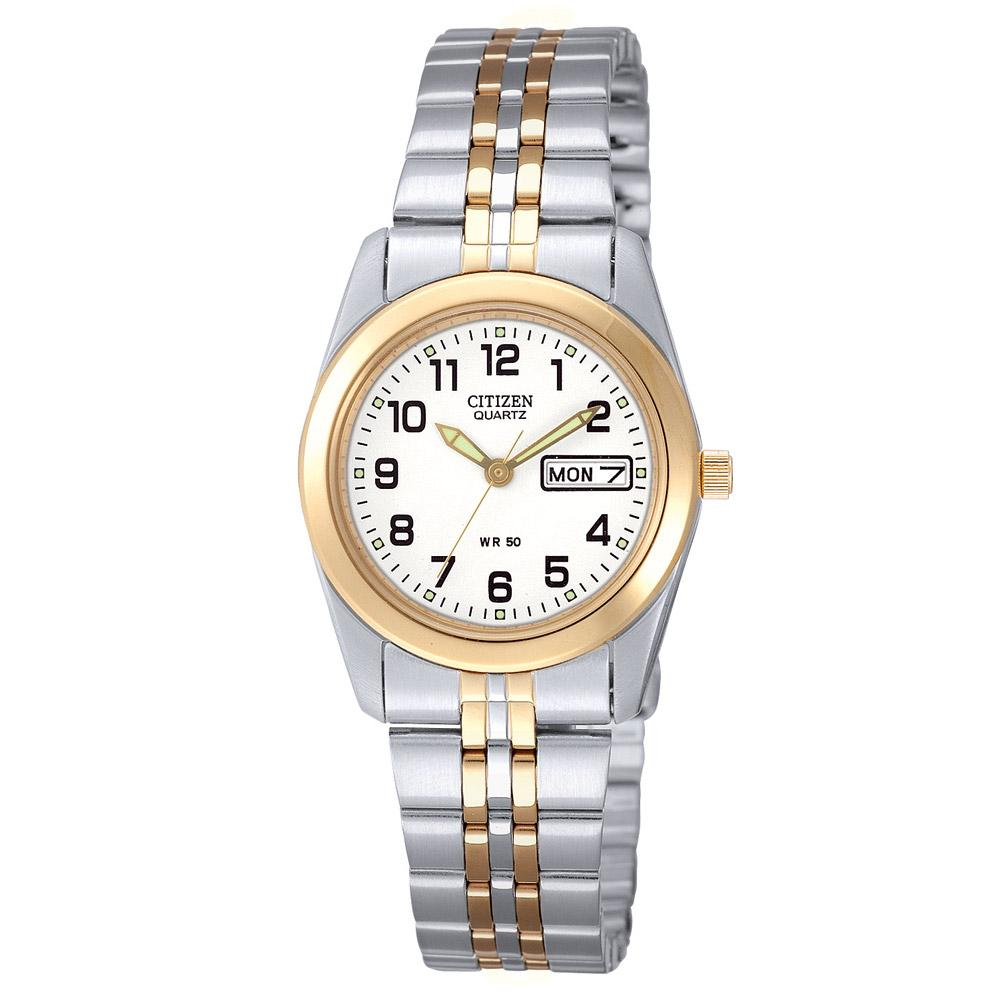 Citizen Ladies Two Tone Stainless Steel Quartz Watch - EQ0514-57A