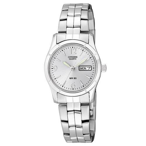 Citizen Ladies White & Silver Stainless Steel Quartz Watch - EQ0540-57A