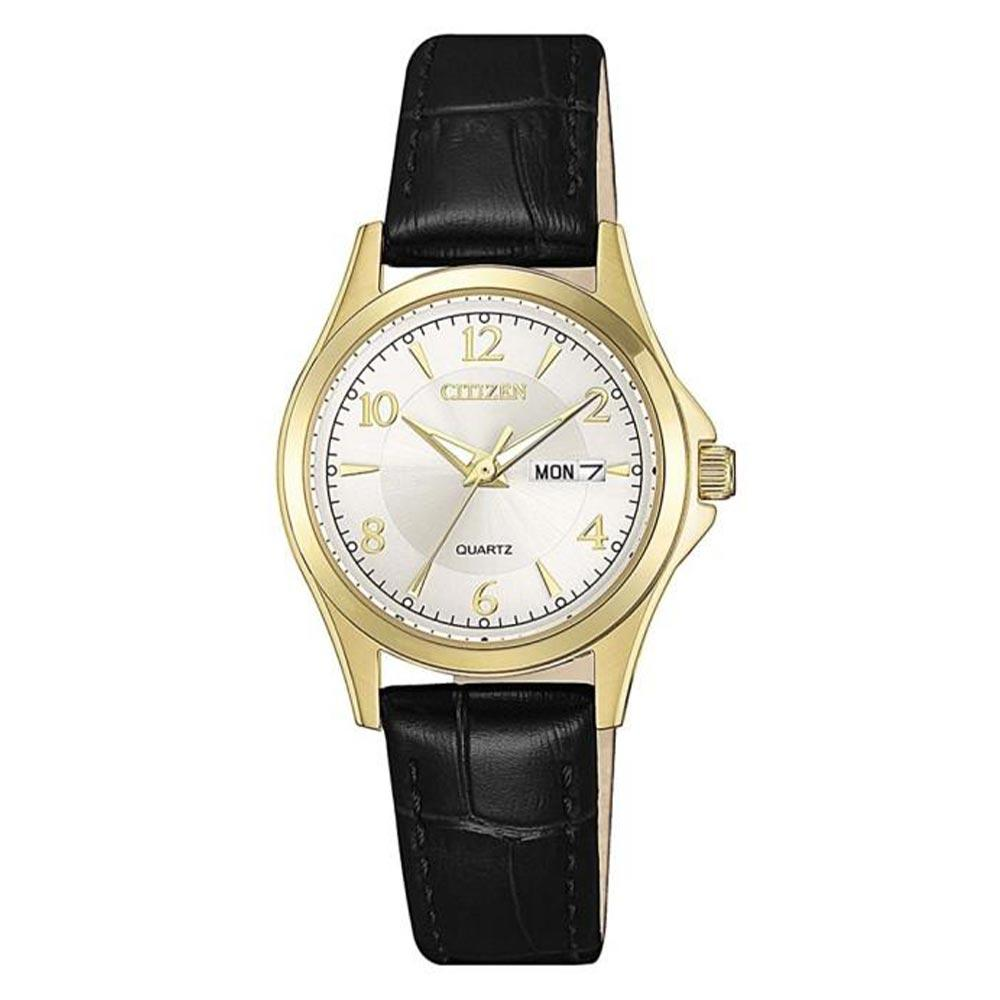 Citizen Classic Black Leather Ladies Watch - Eq0593-26A