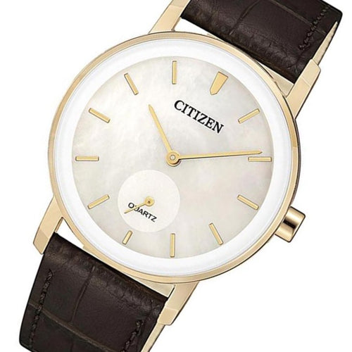 Citizen Brown Leather Quartz Women's Watch - EQ9063-04D