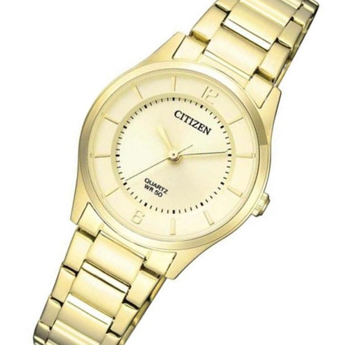 Citizen Gold Steel Quartz Women's Watch - ER0203-85P