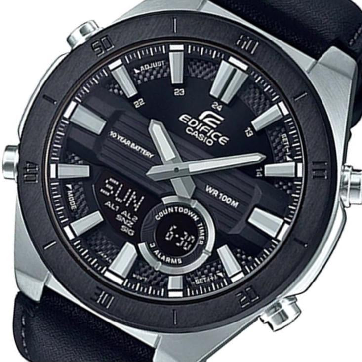 Casio Edifice Black Leather Men's Chrono Watch - ERA110BL-1A