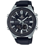 Edifice Black Leather Chronograph Men's Watch - ERA110BL-1A