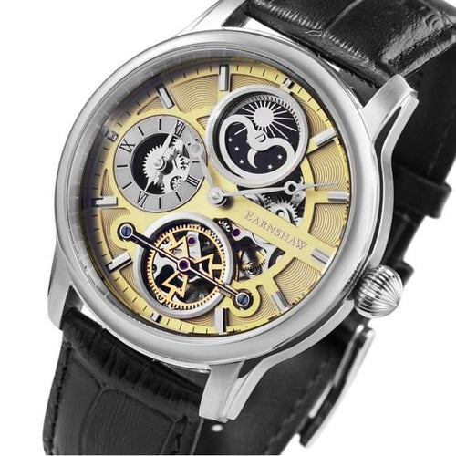 Earnshaw Longitude Hemisphere Sun & Moon Automatic Men's Watch - ES-8087-01