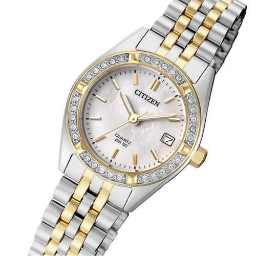 Citizen Ladies Two Tone Stainless Steel Quartz Watch - EU6064-54D