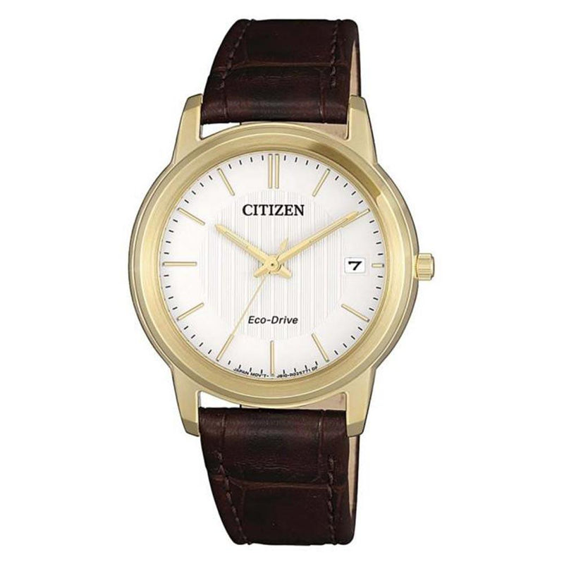 Citizen Brown Leather Eco-Drive Women's Watch - FE6012-11A