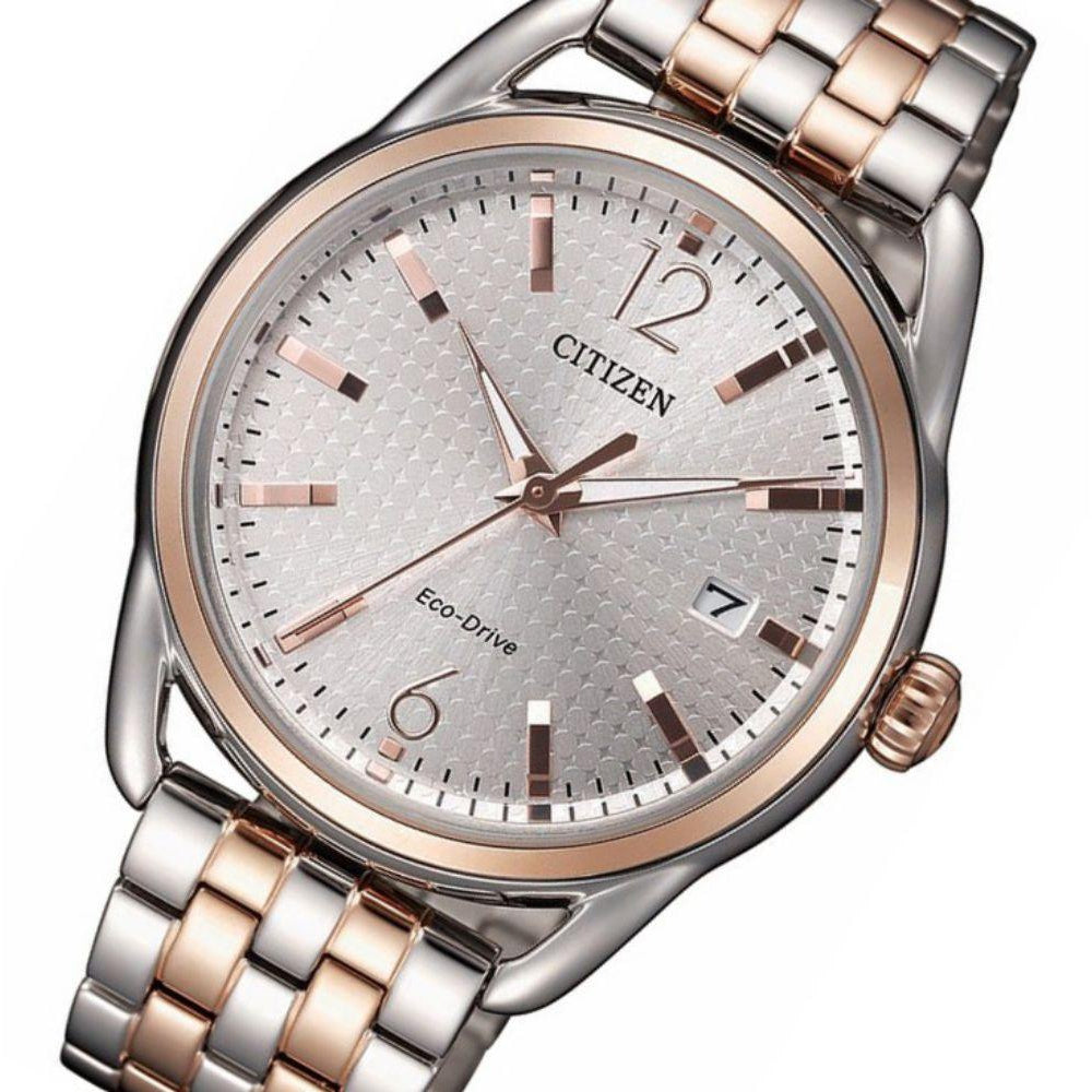 Citizen Two-Tone Steel Ladies Eco-Drive Watch - FE6086-74A