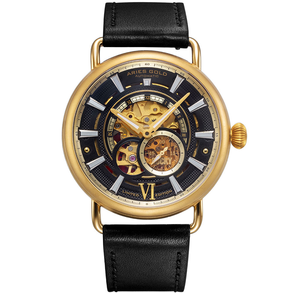 Aries Gold Rocky Limited Edition Invincible Men's Automatic Watch - G 9013 G-BK
