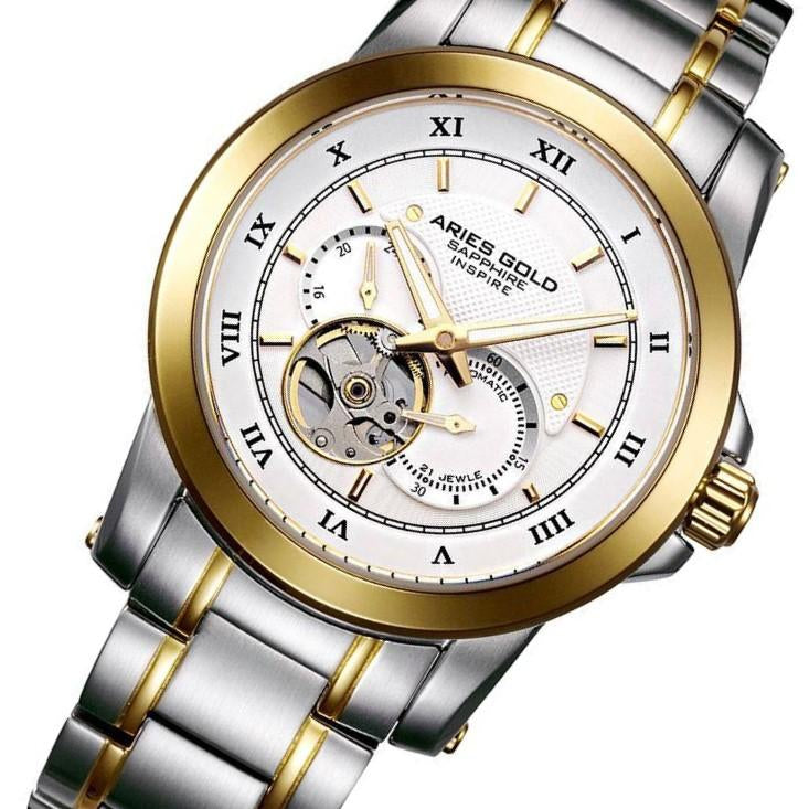 Aries Gold Forza Elegant Stainless Steel Men's Watch - G9001 2TG-W