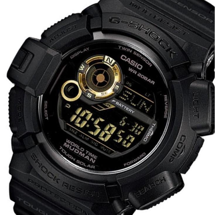 Casio G-Shock Tough Solar Mud Man Black Resin Men's Watch - G9300GB-1