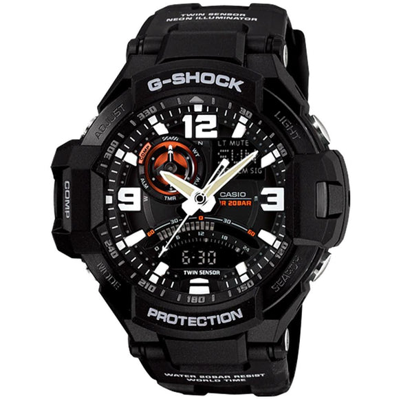 Casio G-Shock Men's Modern Aviator Duo Chrono Watch - GA1000-1A
