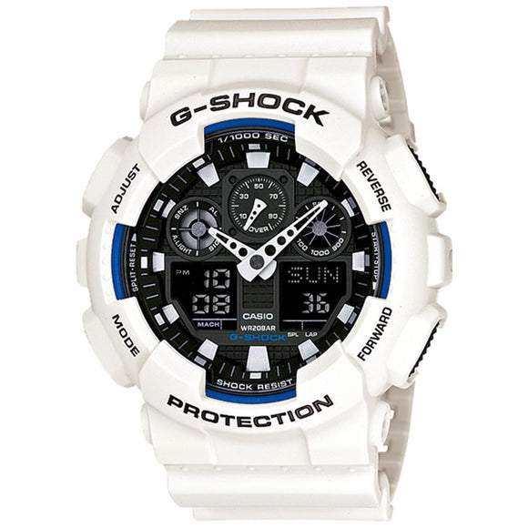Casio G-Shock 55mm Duo Chrono Men's Watch - GA100B-7A