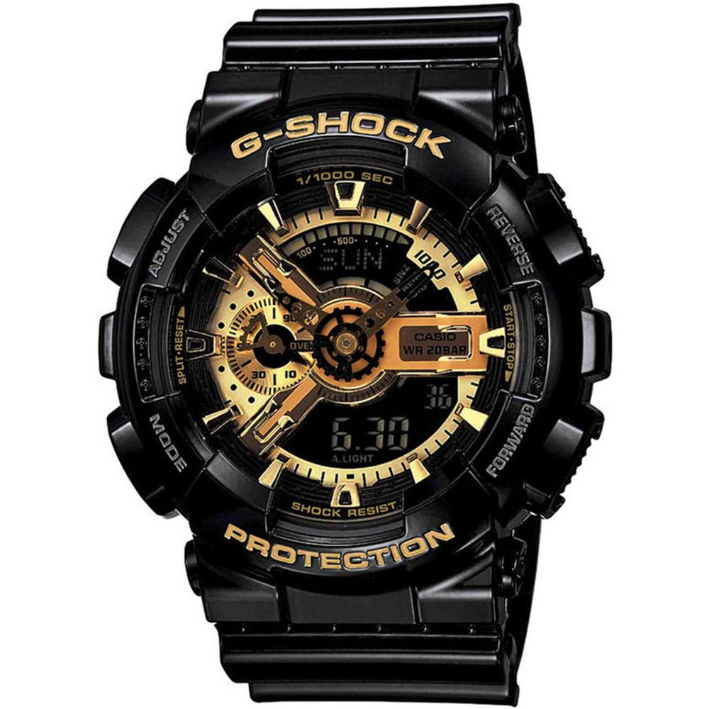 G-SHOCK Black/Gold Digital Men's Watch - GA110GB-1
