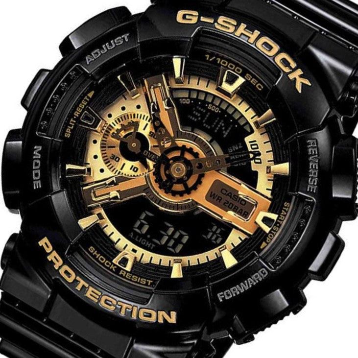 Casio G-SHOCK Black & Gold X-Large Men's Watch - GA110GB-1