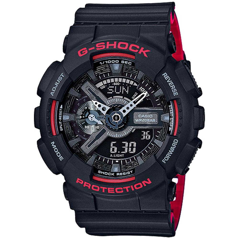 Casio G-Shock Red Heritage Series Men's Watch - GA110HR-1A