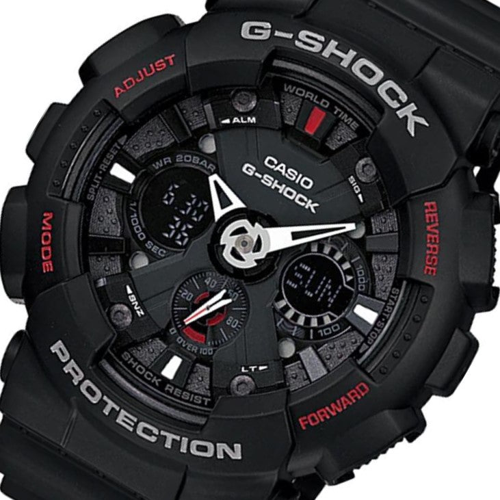 Casio Duo Chrono Black Digital Men's Watch - GA120-1A