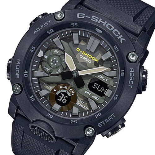 Casio G-Shock Carbon Core Guard Analog-Digital Men's Watch - GA2000SU-1A