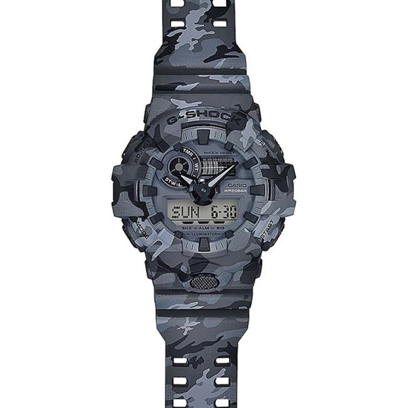 Casio G-SHOCK Grey Camo Series Men's Watch - GA700CM-8A